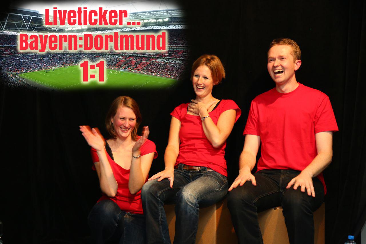 Show mit Liveticker zum CL-Finale Bayern-Dortmund
