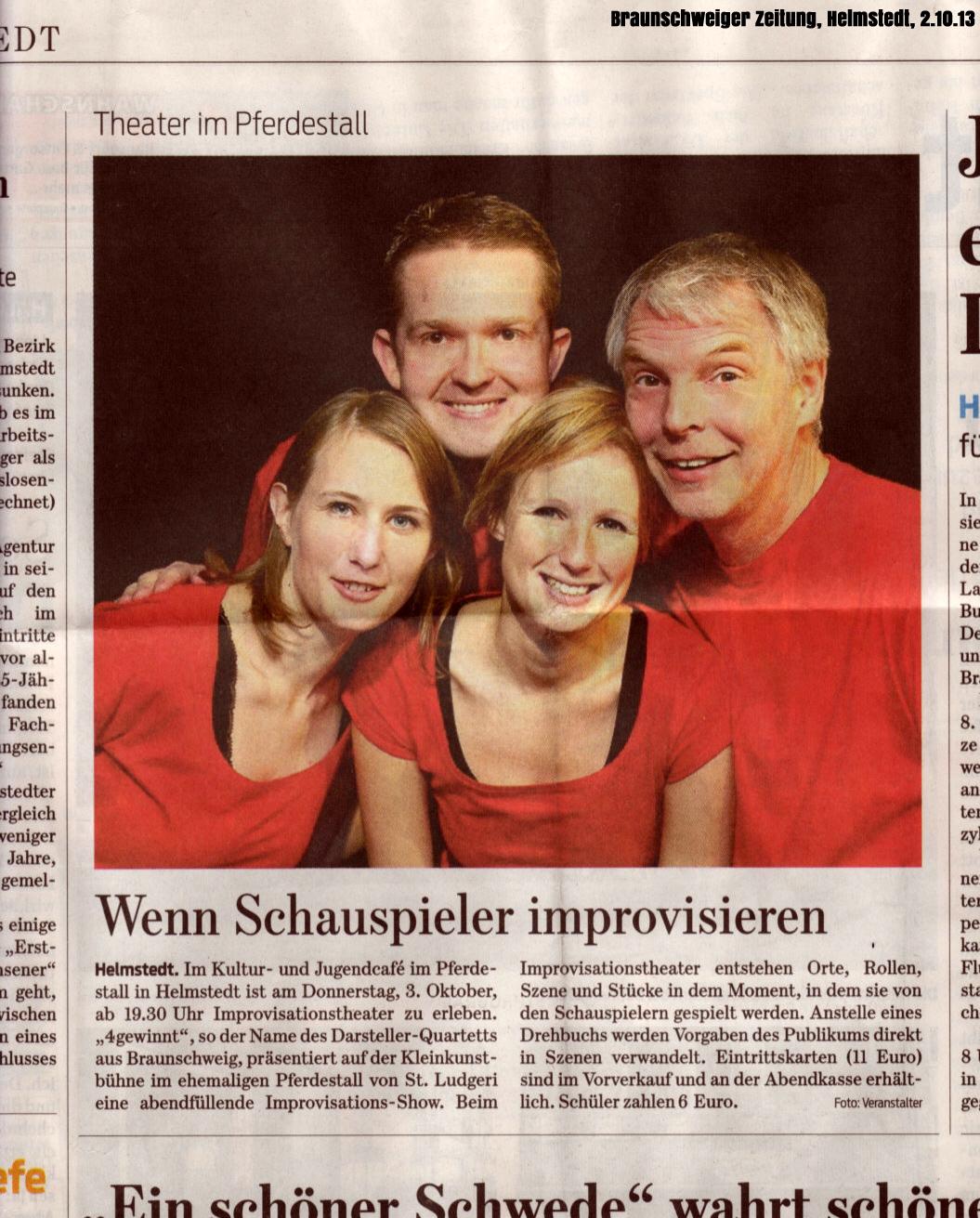 Presse: 4gewinnt kommt nach Helmstedt