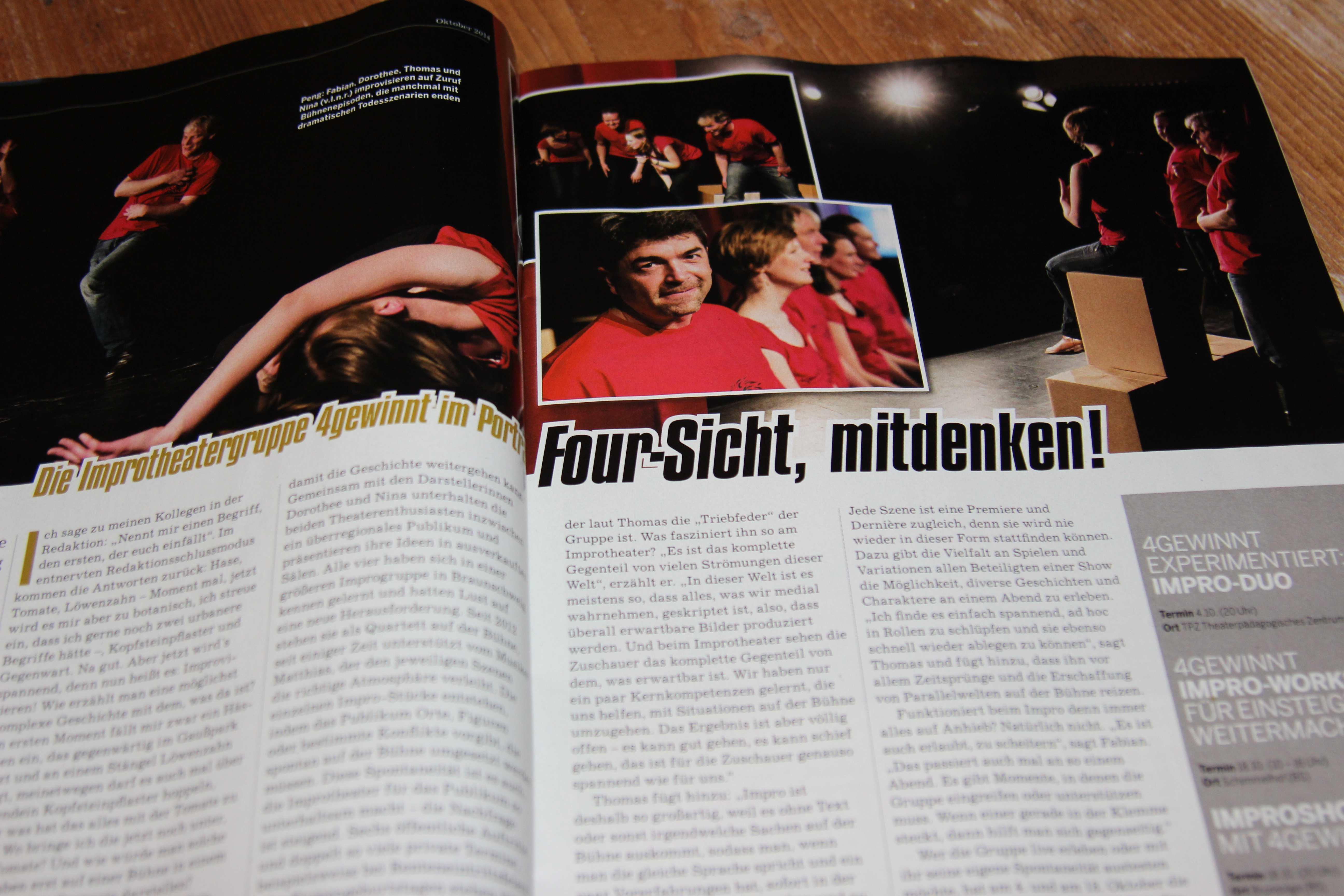 """""""Four-Sicht, mitdenken!"""" Magazin Subway portraitiert 4gewinnt"""