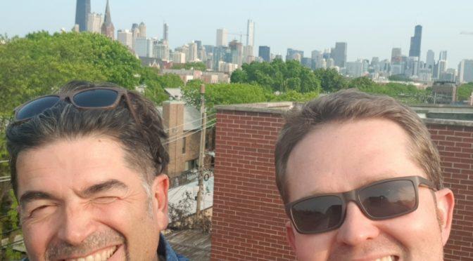 Grüße aus der Windy City: Matthias und Fabian von 4gewinnt studieren in dieser Woche am iO Theatre in Chicago
