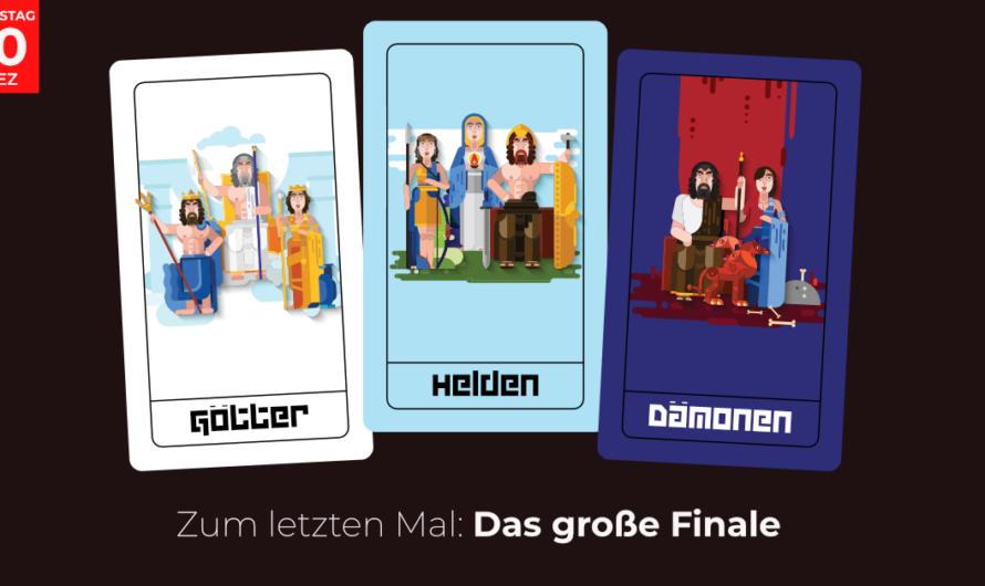 In 3 Wochen nicht verpassen: Götter, Helden und Dämonen – Das große Finale am Dienstag 10.12.2019 in Braunschweig