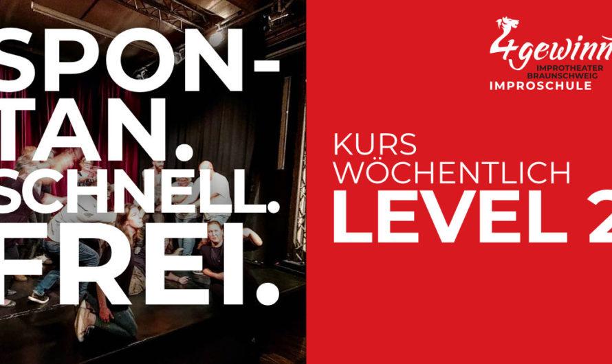 Durchstarten: Level 2 Kurs für Weitermacher startet am 21. Januar