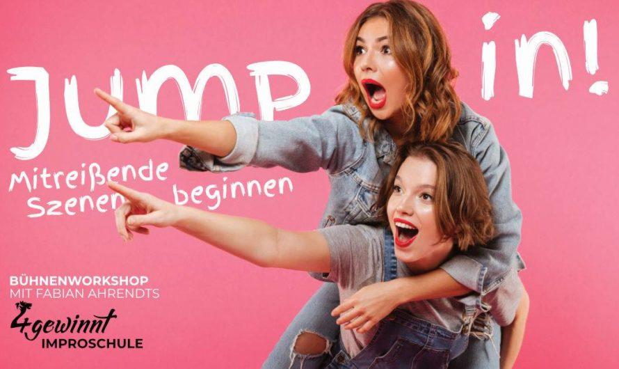 Nur noch 5 freie Plätze – Improvisieren lernen mit einem Workshop: Jump in! – Mitreißende Szenen beginnen – Bühnenworkshop mit Fabian Ahrendts am Samstag 10.10.2020 in Braunschweig