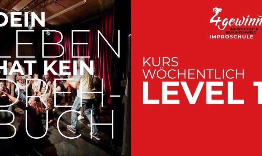 Nur noch 3 freie Plätze – Improvisieren lernen mit einem Workshop Improschule Level 1.b Kurs (10 Termine, wöchentlich Mo. 19:30-21:15 Uhr) – Start sobald möglich am Montag 19.04.2021 in Braunschweig