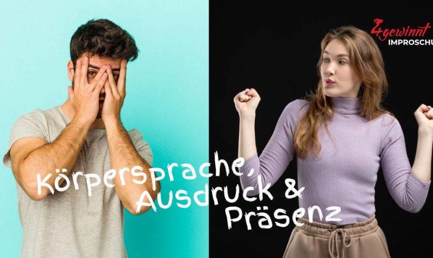 Improvisieren lernen mit einem Workshop Körpersprache, Ausdruck und Präsenz – Handwerkszeug für sicheres Auftreten (vor anderen) – 14./21./28.9.2021 von 19:30-21:15 Uhr am Dienstag 14.09.2021 in Braunschweig